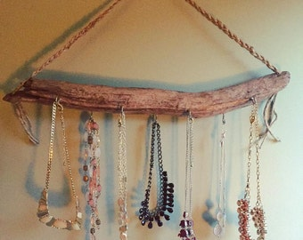 Driftwood Jewelry or Key Holder Home Decor