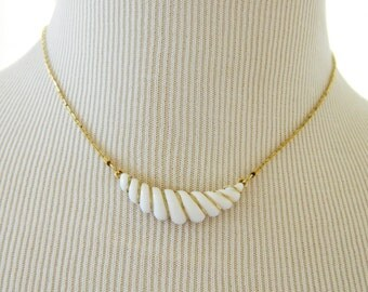 "Vintage Avon Crescent Pendant Choker Necklace 16"", Signed Necklace, Choker Necklace, Vintage Costume Jewelry, Vintage Avon Jewelry"