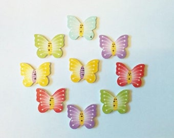 Wooden butterfly buttons. Crafts-sewing-embellishments-cards-scrapbooking-cabochon-flatbacks