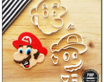 Cookie Cutter Mario / Set fondant