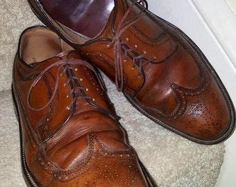 VTG 60'S Mason Wingtip Oxford Shoes Mens SZ 11 D Brown Leather Chippewa