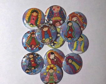 """Our Lady of Guadalupe 1"""" buttons (set of 20)"""