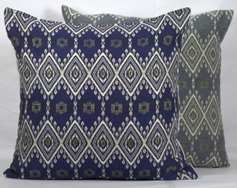 Grey throw pillows cover 20x20 gold pillows 18x18 throw pillows sofa pillows 24x24 throw pillows 26x26 grey jacquard navy blue pillow case