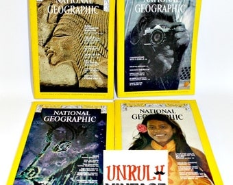 FOUR Issues 1960s National Geographic Vintage Ephemera (C)
