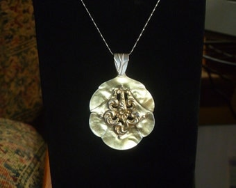 antique silver spoon pendant necklace