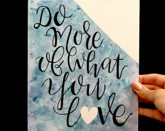 Handwritten Quote on Canvas Panel- Be yourself/ love quote/ advendture quote/ Sign with color block/ Gifts for her/ Personalized gift/ Handw