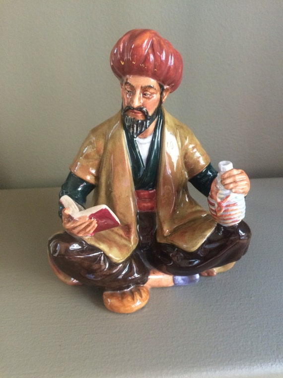 Christmas Sale 15% off, Vintage 1964 Royal Doulton Omar Khayyam H.N. 2247, wonderful piece with great detail