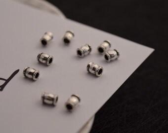 10 pcs sterling silver spacer beads bead spacers  LJX6