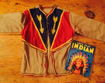 Vintage 1950's Indian Child's jacket and book