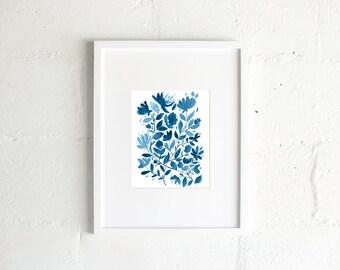 "The ""Blue Print"" Watercolor Print"