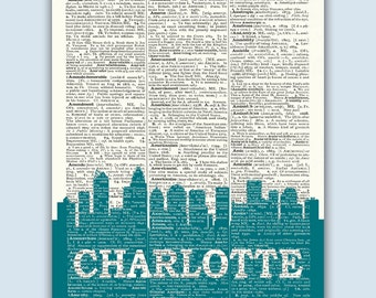 Charlotte Skyline, Charlotte Poster, Charlotte Decor, Charlotte Print, Charlotte Wall Art, Charlotte Gift, Charlotte Wall Decor