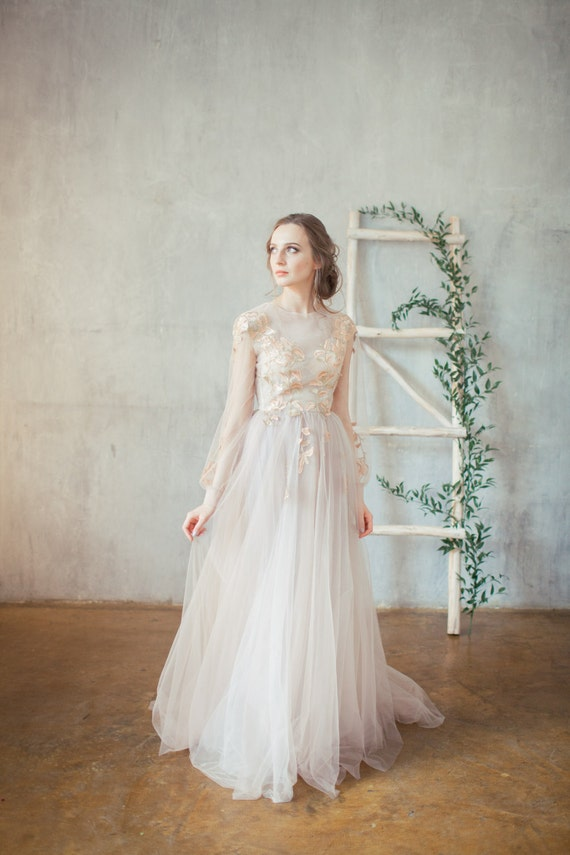 Flowered Bridal Gown