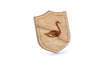 Swan Lapel Pin, Wooden Pin, Wooden Lapel, Gift For Him or Her, Wedding Gifts, Groomsman Gifts, and Personalized