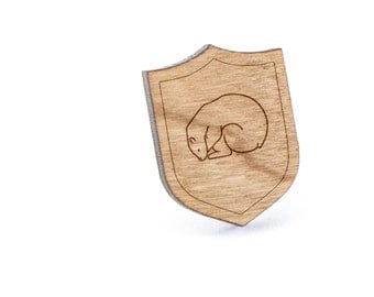 Polar Bear Lapel Pin, Wooden Pin, Wooden Lapel, Gift For Him or Her, Wedding Gifts, Groomsman Gifts, and Personalized