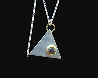 Sale! Pendant with brown rose cut diamond