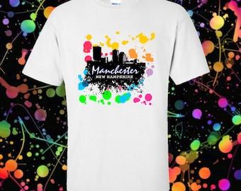 Manchester NH shirt - Graffiti paint splatter