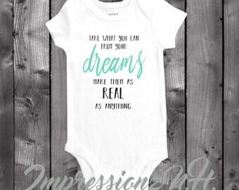 Cute inspirational song lyrics baby one-piece bodysuit shirt