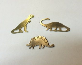 Brass Stamping - Dinosaurs - Set of 3