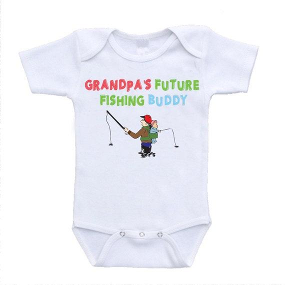 Grandpa 39 S Future Fishing Buddy Baby Bodysuit Onesies