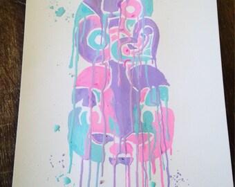 Rainbow Tiki Print