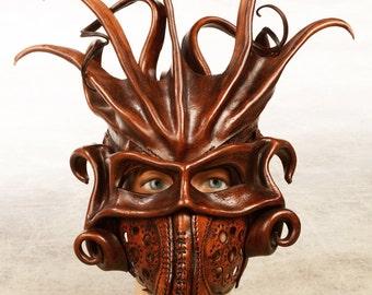 Medusa leather mask