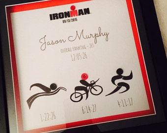Ironman triathlon Achivement frame