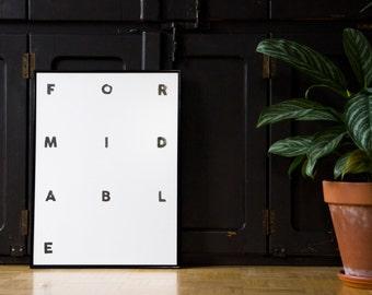 Letterpress Poster Formidable