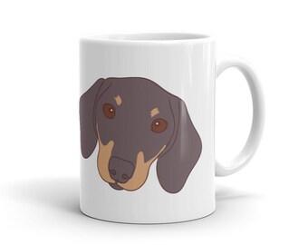 Doxie is dachshund weiner dog Mug Print Mug - Cute Coffee Mug - Dog Rescue Mug - Dog Lover - Fun Mugs - Dog Print dachshund dachshund