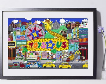 Toys R Us Store Art Painting PSNY - Home Decor
