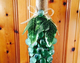 Lighted Wine Bottle Decor-Grape Design