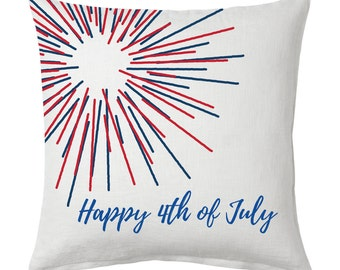 Firework 4th of July Pillow Cover