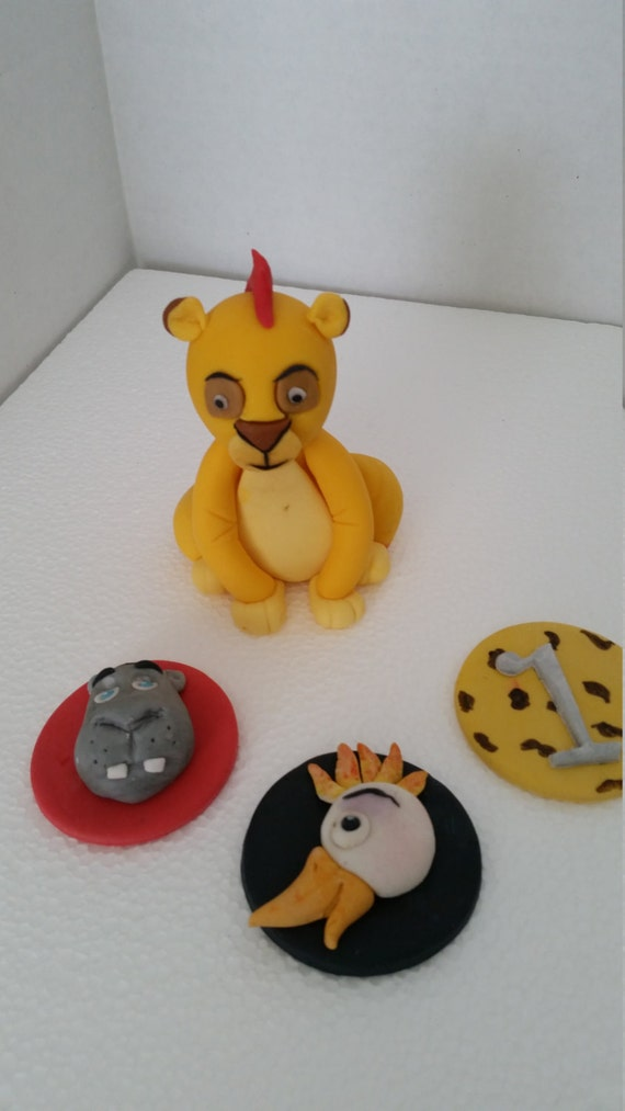 Edible Cake Images Lion King : Lion King Kion and friends edible cake topper and 12 cupcake