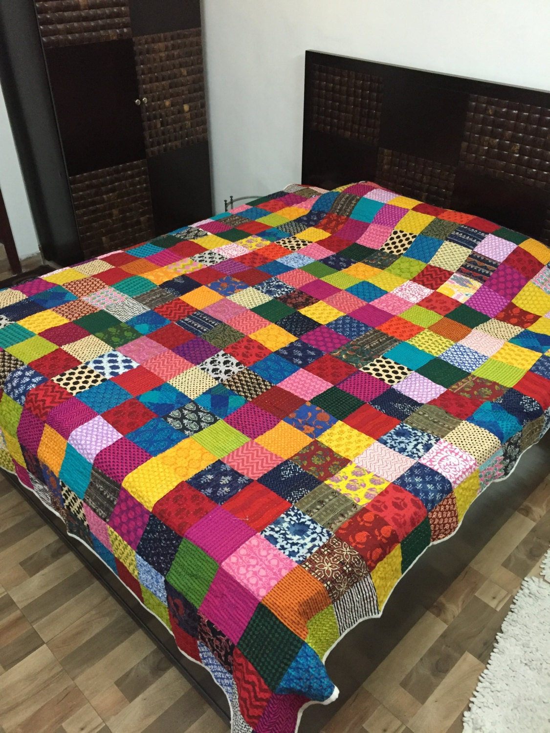 Vibrant Patchwork King Size Quilt 100 By Frillsbymadhu On