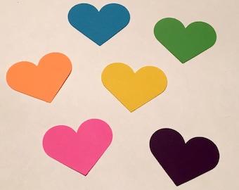 Heart Confetti Bright Heart Confetti Bright Confetti Birthday Confetti Shower Confetti Blue Green Pink Yellow Orange Purple