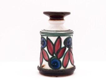 East German Vintage Fat Lava Vase by STREHLA, form 1268/1