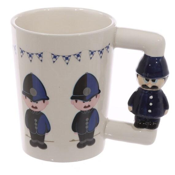 Coffee Mug Novelty Ceramic Shaped Handle Policeman By