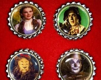 Wizard Of Oz Bottlecap Embellishments