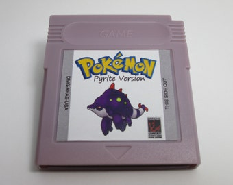 Pokemon Pyrite fan made hack Gameboy Color cartridge GBC game
