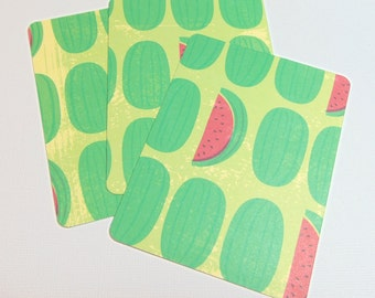 3x4 Watermelon Cards