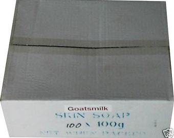 Bulk Box 100 x Natural Goat's Milk Soap 100gm Bars - Wholesale Prices - Australian Made