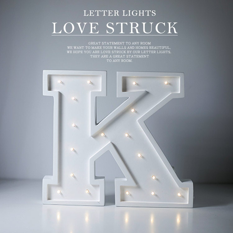 letter k lights marquee letter light light up sign great for nurseries or kids rooms wooden letter lamp in stock