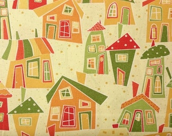 "Wilmington Prints ""Marmalade Cottage"" Cotton Fabric"