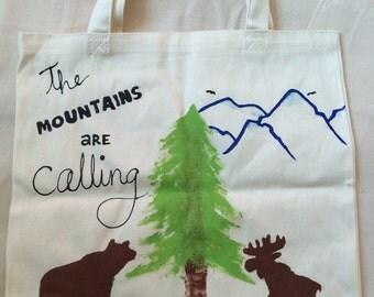 Mounaineer canvas bag // market tote