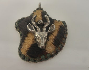 silver African pendant
