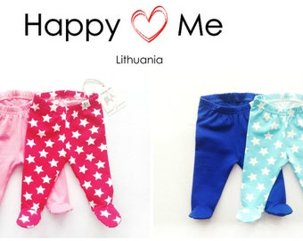 Baby pants with footies/ Baby boy footies/ Baby girl footies/ Footed Pajamas Leggings/ Home outfit