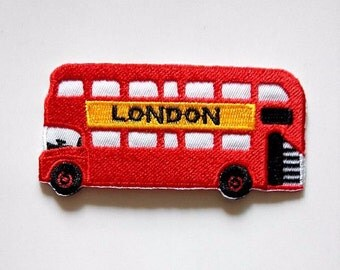 London Red Bus Iron On Patch