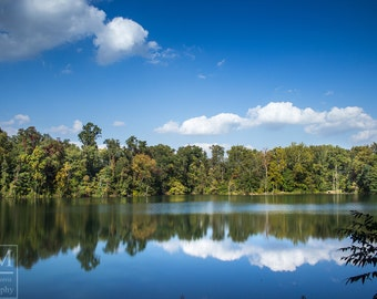 Water Reflection Photo Prints - Waterscape Reflection, Pennsylvania Lake