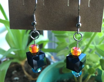 Portal Cube Earrings - Companion Weighted Storage Cube Chell Aperture Science Testing Materials