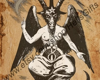 Baphomet Digital Print Occult Art - Occult Print