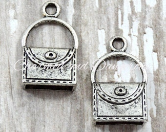 10 pewter Purse charms (CM44)
